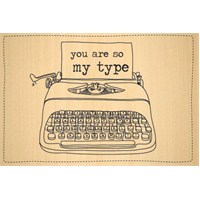 Biggdesign You Are So My Type Ahşap Kartpostal