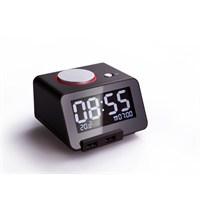 Mack Homtime C1pro-Bl Bluetooth Speaker Lcd Masa Saati Siyah