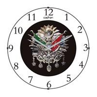 Cadran 110-14 Bombeli Cam Duvar Saati Osmanlı Devlet Nişanı-2