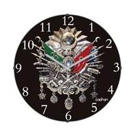 Cadran 110-15 Bombeli Cam Duvar Saati Osmanlı Devlet Nişanı