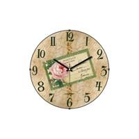 Cadran 140-50 Retro Vintage Bombeli Cam Duvar Saati Carte Postale