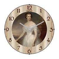 Cadran 120-5 Bombeli Cam Duvar Saati British Lady