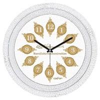 Cadran 1108-12 Dekoratif Vintage Duvar Saati Çatlak Desen Besmele