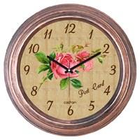 Cadran 1108-16 Dekoratif Vintage Duvar Saati Bakır Rose