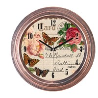 Cadran 1108-20 Dekoratif Vintage Duvar Saati Bakır Post Card