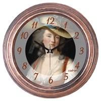 Cadran 1108-28 Dekoratif Vintage Duvar Saati Bakır Lady