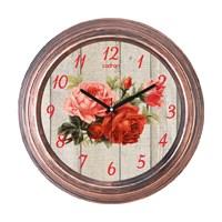 Cadran 1108-34 Dekoratif Vintage Duvar Saati Bakır Rose