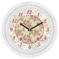 Cadran 1108-46 Dekoratif Vintage Duvar Saati Çatlak Desen Çiçekler-4