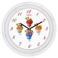 Cadran 1108-70 Dekoratif Vintage Duvar Saati Çatlak Desen Ice Cup