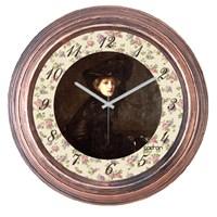 Cadran 1108-78 Dekoratif Vintage Duvar Saati Bakır Lady-4