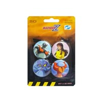Mazinger Z Badges Set A Mazinger Rozet Seti