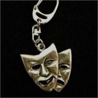 Tiyatro Maskı Anahtarlık