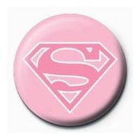 Rozet - Superman - Pink Logo