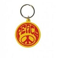 Hippie Peace Symbol Anahtarlık