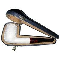 Billiard Modeli İşlemeli Lületaşı Pipo (9mm Filtreli)