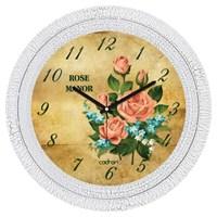 Cadran Dekoratif Vintage Çatlak Desen Duvar Saati Rose Manor