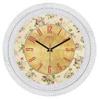 Cadran Dekoratif Vintage Çatlak Desen Duvar Saati Çiçek Desen