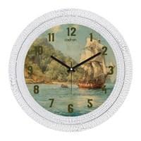 Cadran Dekoratif Vintage Çatlak Desen Duvar Saati Gemi-4