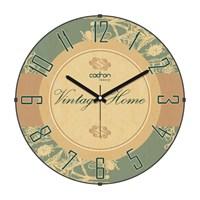 Cadran Luxury Vintage Home Bombeli Cam Duvar Saati Retro Motifler-8