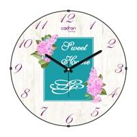 Cadran Luxury Sweet Home Bombeli Cam Duvar Saati Post Card-1