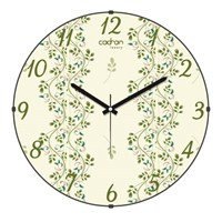 Cadran Luxury Sweet Home Bombeli Cam Duvar Saati Floral