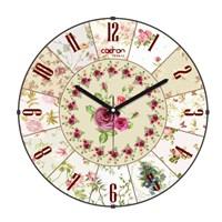 Cadran Luxury Vintage Bombeli Cam Duvar Saati Çiçek Dilimleri-1
