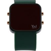 You Watch Khaki Green Buttons Unisex Kol Saati