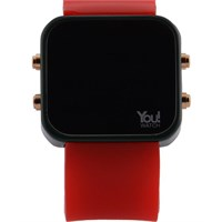You Watch Khaki Green Red Buttons Unisex Kol Saati
