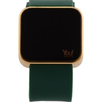 You Watch Matt Gold Khaki Green Unisex Kol Saati