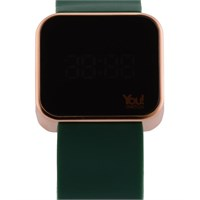 You Watch Matt Rose Khaki Green Unisex Kol Saati