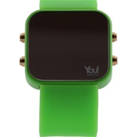 You Watch Neon Green Buttons Unisex Kol Saati