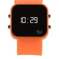 You Watch Neon Orange Buttons Unisex Kol Saati