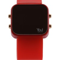 You Watch Red Buttons Unisex Kol Saati