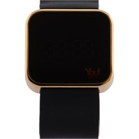 You Watch Shiny Gold Black Unisex Kol Saati