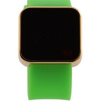 You Watch Shiny Gold Neon Green Unisex Kol Saati