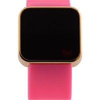 You Watch Shiny Gold Pink Unisex Kol Saati