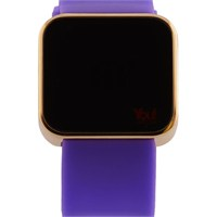You Watch Shiny Gold Purple Unisex Kol Saati