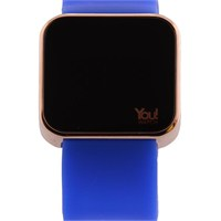 You Watch Shiny Gold Saxe Blue Unisex Kol Saati