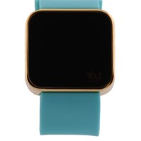You Watch Shiny Gold Turquoise Unisex Kol Saati