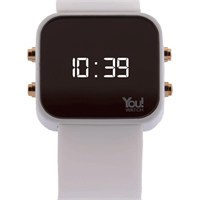 You Watch White Buttons Unisex Kol Saati