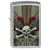 Zippo Skull,Crossbones,Wings Çakmak
