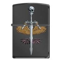 Zippo Skull On Sword With Wing Çakmak