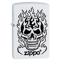 Zippo 214 Zippo Flaming Skull Çakmak