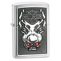 Zippo 200 Hd Skull W/Red Crystl Çakmak