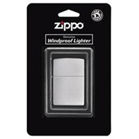 Zippo Reg Brush Finish Chrome Çakmak
