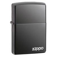 Zippo Black Ice Logo Benzinli Çakmak / 150 ZL