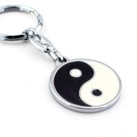 Solfera Ying Yang Siyah Beyaz Metal Anahtarlık Kc508