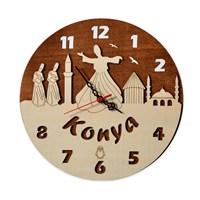 Penguen Pensa Konya 109 Ahşap Duvar Saati