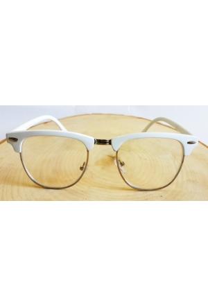 Köstebek Beyaz Yarım Çerçeveli Gözlük Kgz079