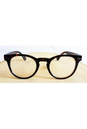 Köstebek Kahverengi Siyah Çerçeveli Cat Eye Gözlük Kgz082